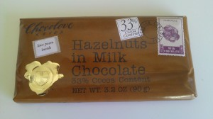 The hazelnut flavor - I have a cherry-almond bar in the fridge right now too, but there are only about 2 squares left :-)