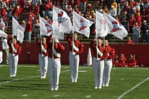 Flag line from Iowa State (my freshman year). I'm second from the left.